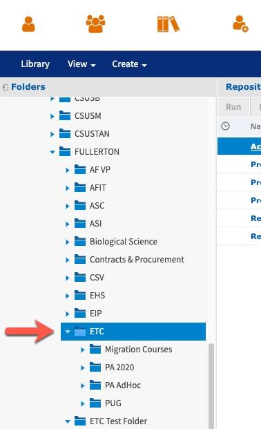 Arrow pointing to ETC folder