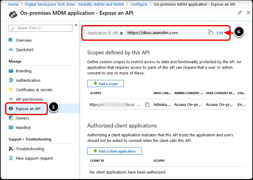 Configure the On-Prem Application with Workspace ONE UEM Details