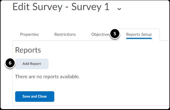 Edit Surveys homepage