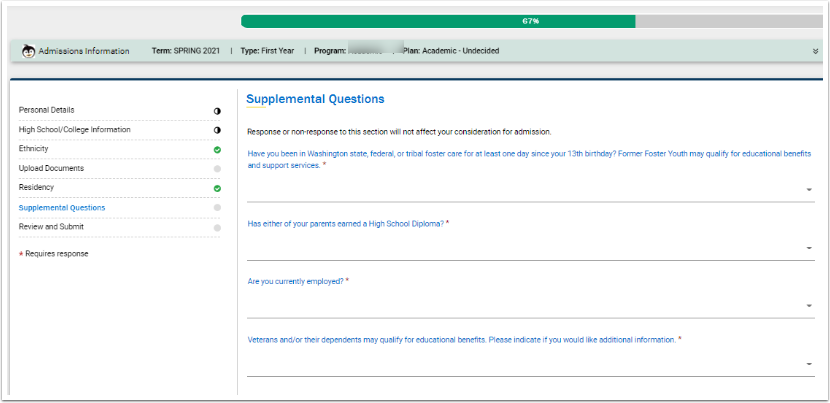 Supplemental Questions