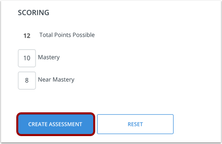 Finish and Create Assessment