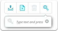 Search bar - type text and press