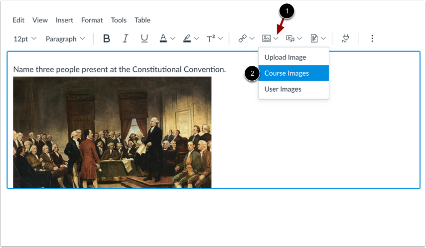 Add Images to Quiz Question