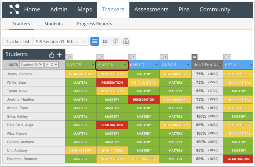 Open Tracker and Assessment