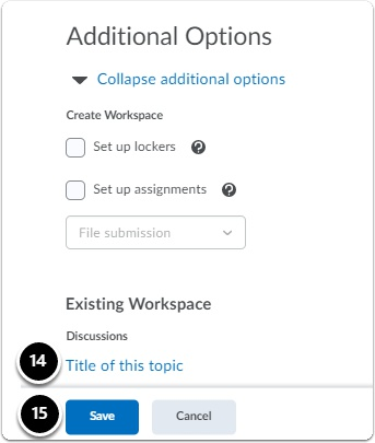 additional options section under edit category page
