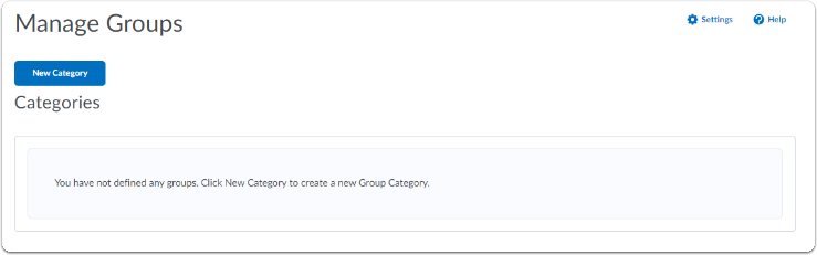 Manage Groups - No longer containing defined groups