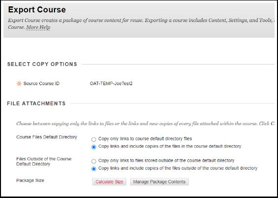Export Course – Joe's Test course 2 - Google Chrome