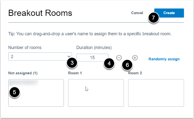 breakout rooms settings screen