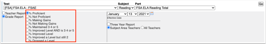 School Status Report