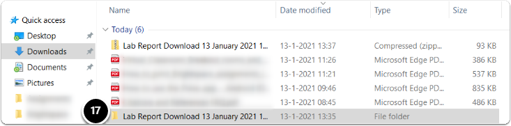Downloads folder - Assignment folder will appear, click on it
