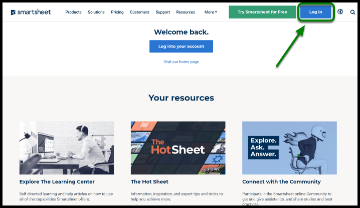 Smartsheet Website