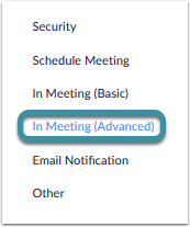Select In Meeting (Advanced)