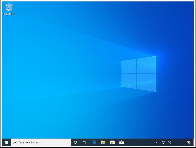 Arrive at the Windows Desktop