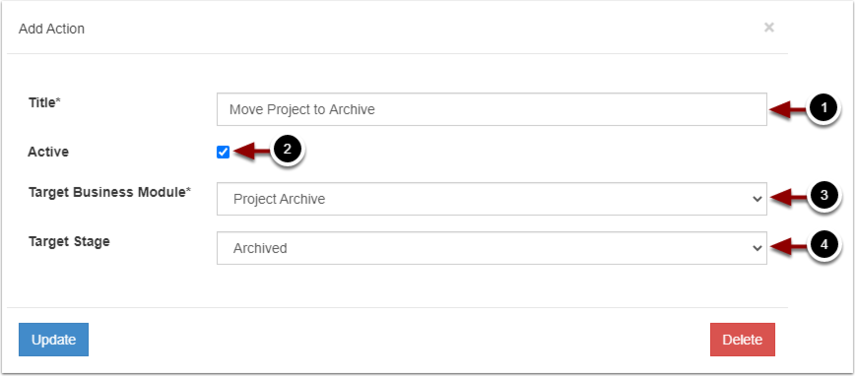 Action Management (Projects) - Google Chrome