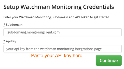 Add Watchman Monitoring credentials