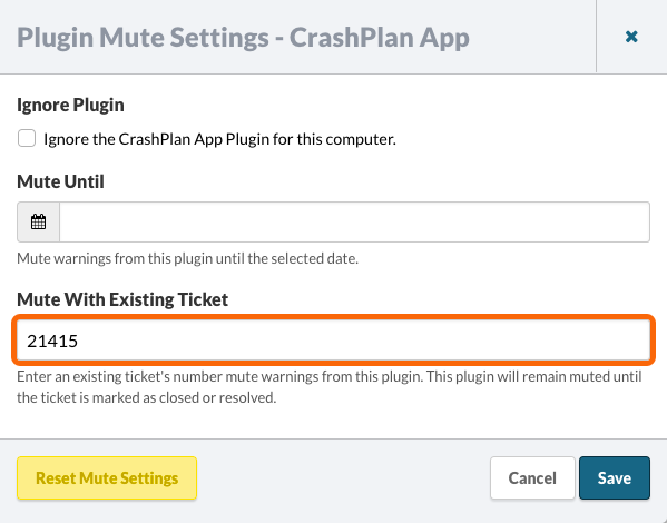 Plugin Mute Settings