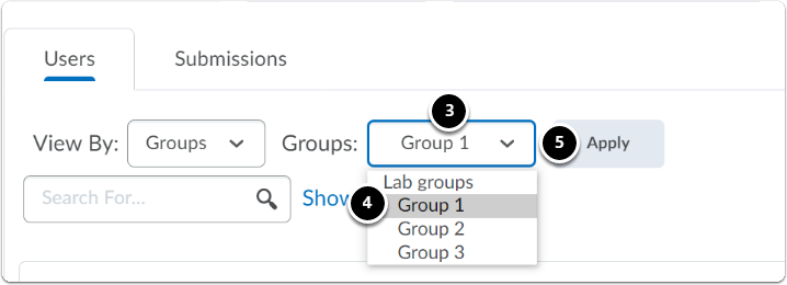 More options will appear next to Groups, Click on the downward arrow next to Group 1, a drop-down menu will appear, select the group and click on apply