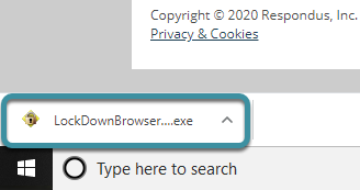 Select the downloaded file in your browser