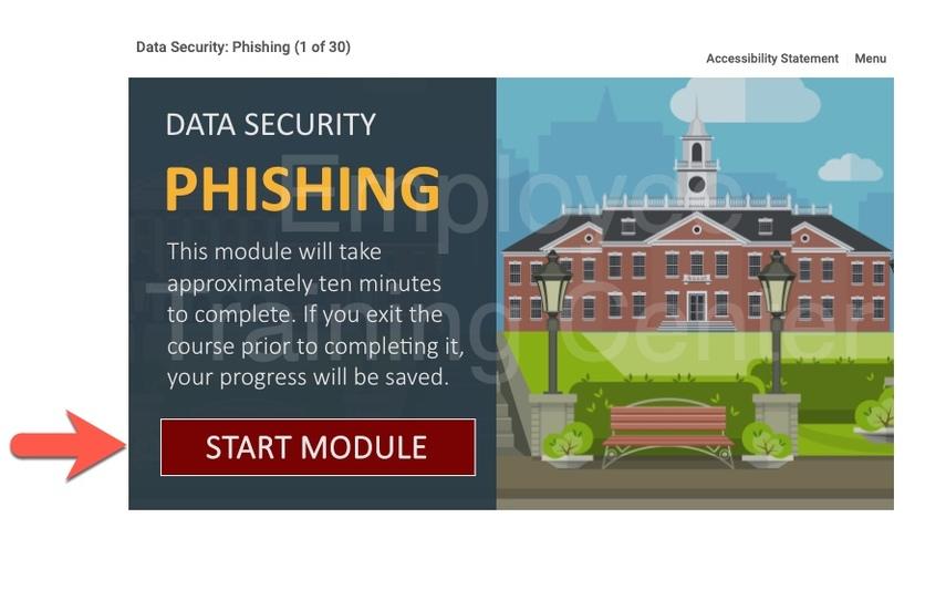Phishing Start Module Slide