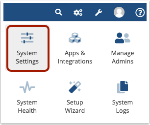 Navigate to Configuration > System Settings