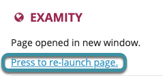 Select Press to re-launch page, if prompted