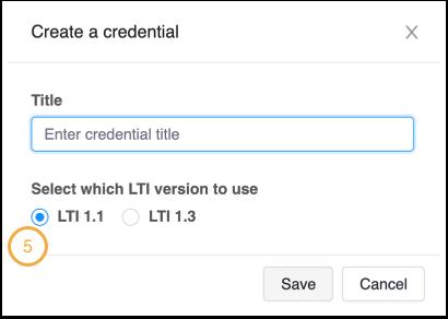 Choose LTI 1.1