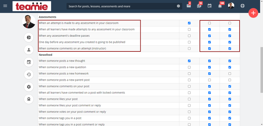 Managing Notification Preferences for Assignments & Quizzes