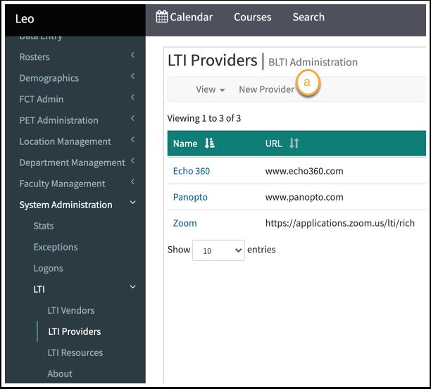 LTI Providers in Leo