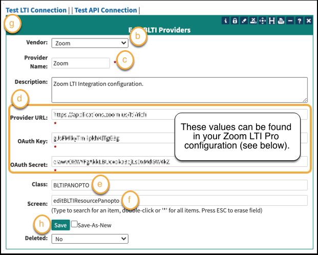 Leo LTI Provider configuration