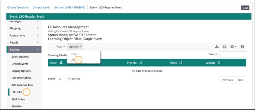 Zoom LTI Event screen