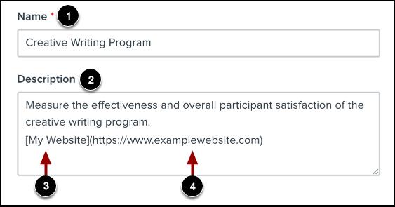 Enter Program Details