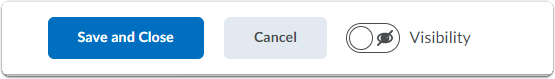 Assignment settings - Save button options