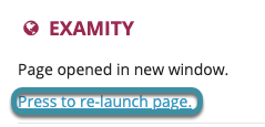 If prompted, select press to re-launch page