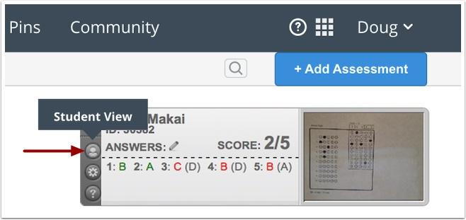 Score Using Student View