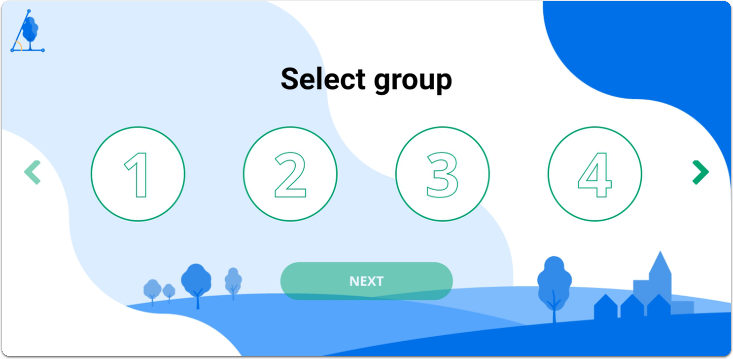 Figure 3: After entering the code, students could select the group they are in