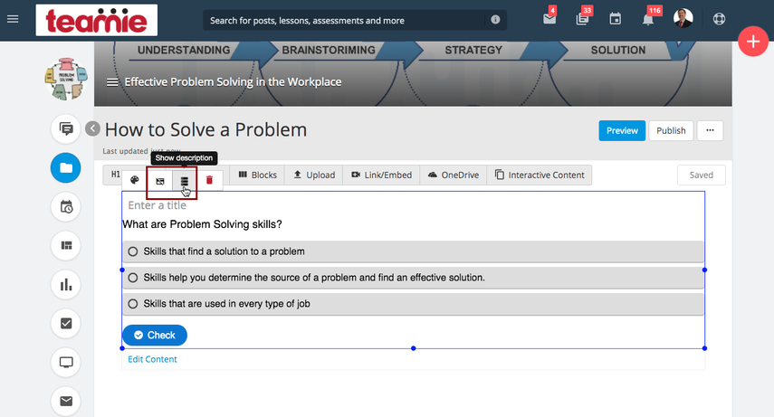 (116) Effective Problem Solving in the Workplace | Teamie Next