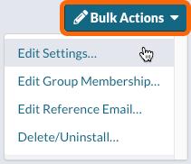 Bulk Actions > Edit Settings...