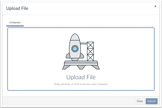 image of drag and drap to upload a file