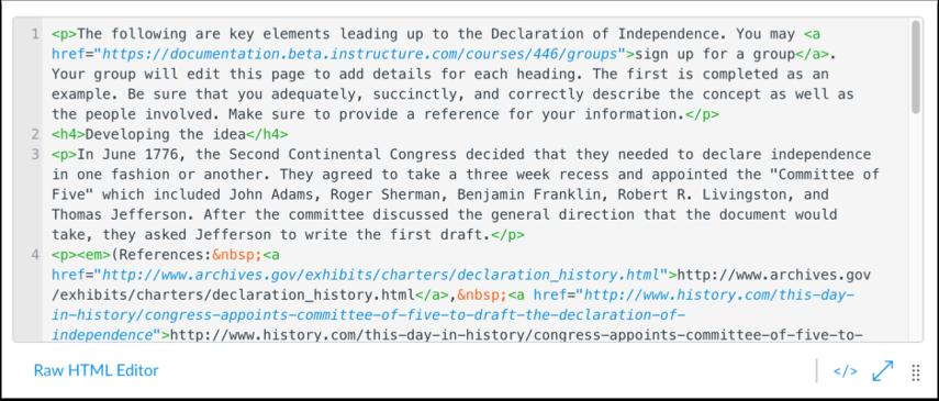 Edit HTML Content