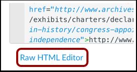 View Raw HTML Editor