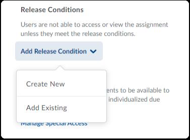 Add Release Condition