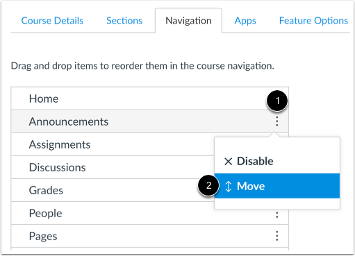 Move Navigation Links