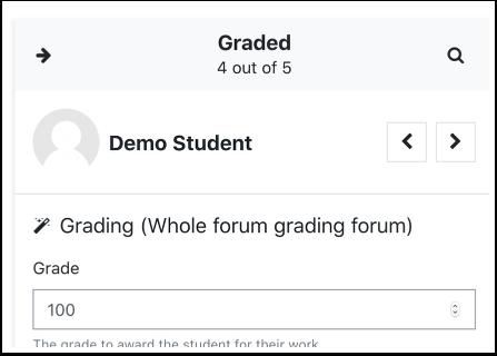Grade panel