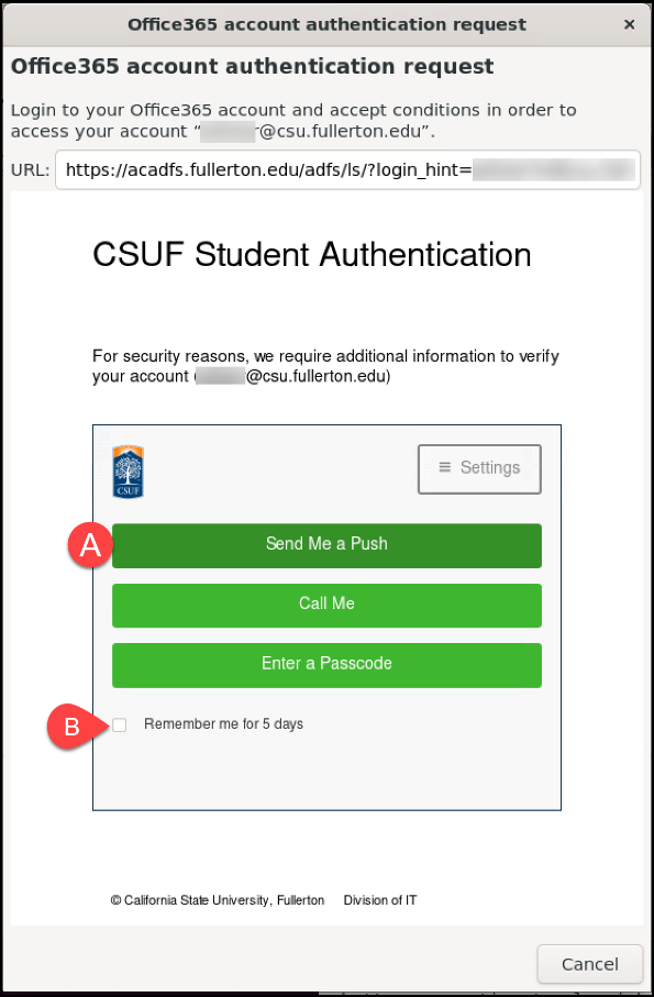 Duo authentication request
