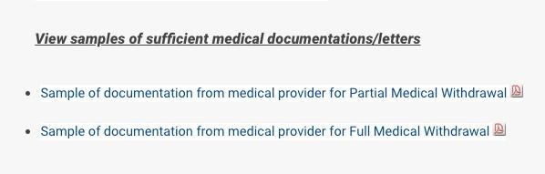 samples of medical documentation link