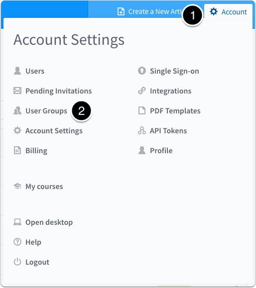 Select Reader Groups