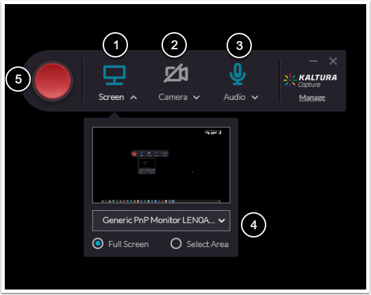 Video Window for Kaltura Lecture Capture