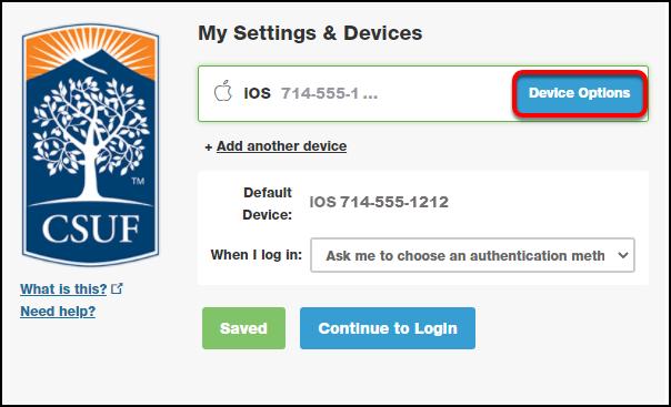 my settings