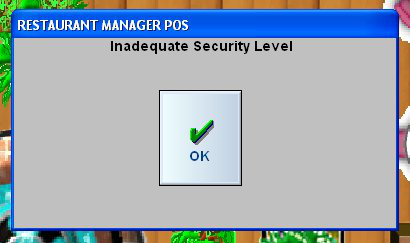Inadequate Security Level