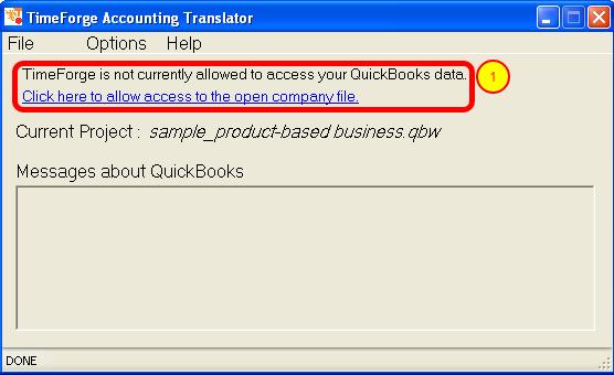 View the QuickBooks Translator Dashboard